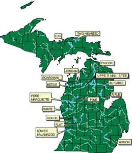 Michigan Public Land Map by Dnr Natural River Maps