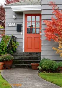 orange exterior house colors front door color choice design once