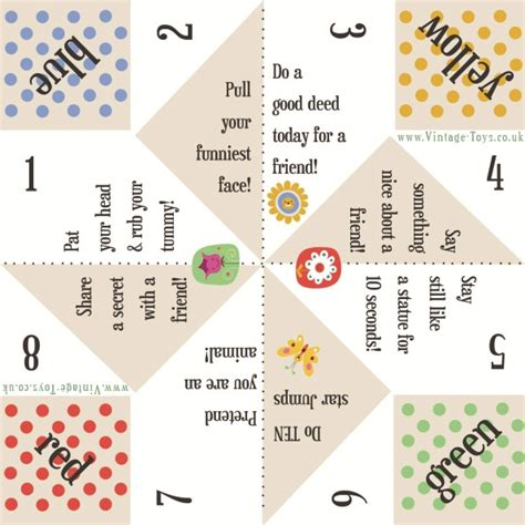 printable games to play on paper fortune teller paper game kiddo shelter paper game for