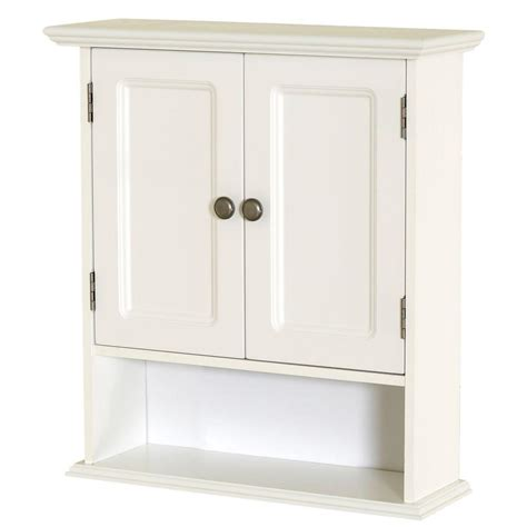 Wall Storage Bathroom Zenna Home Collette 21 1 2 In W X 24 In H X 7 In D Bathroom Storage Wall Cabinet In White