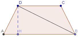 somma angoli interni trapezio trapezio isoscele noti ab lati obliqui e diagonale bd