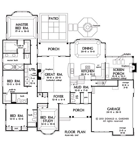 floor plan of the house first floor plan of the ramsey house plan number 1347