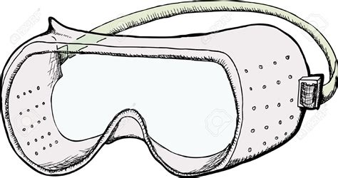 safety goggles with fan ventilation holes clipart clipground