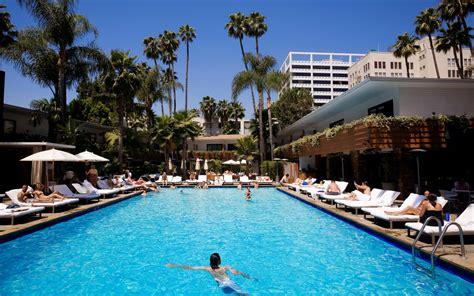 best hotel pools in los angeles travel leisure