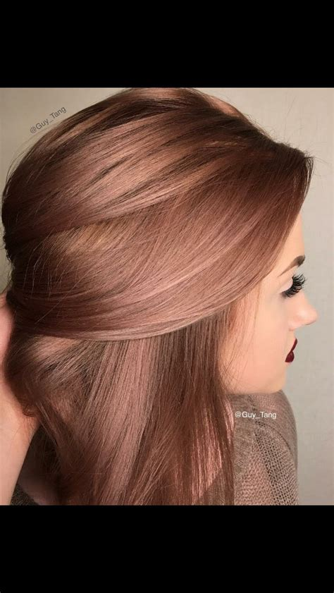 hairstyles with brown copper light brown stripes rose brown hair blonde brunette pinterest rose