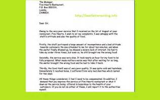 letter writing tips business letter exles