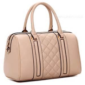 pretty life modern pure color grid handbags handbags