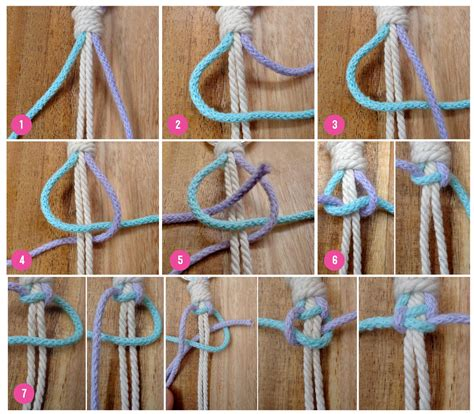 Macrame Square Knots - tutorial macram 233 top loop to hang your plant holder