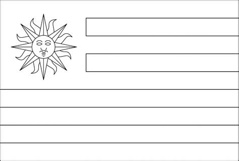 Uruguay Flag Free Coloring Pages Uruguay Flag Coloring Page