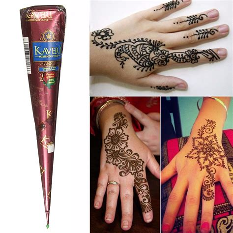 henna tattoo cones 1pcs herbal henna cones temporary