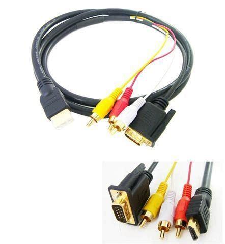 Harga Kabel Rca To Vga hdmi vga kompozitni rca audio kabel 1 5 m trgovina