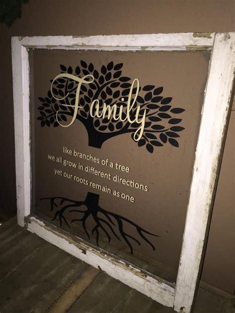 frames with vinyl family sayings window ideas window pane vinyl on glass family tree