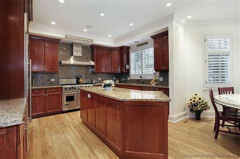 kitchen ideas for medium kitchens traditional medium wood cherry kitchen cabinets 54