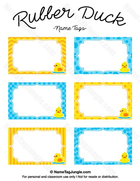 rubber st card templates free printable rubber duck name tags the template can