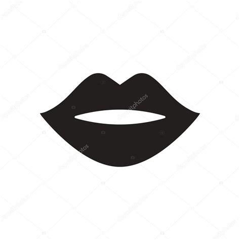 imagenes de labios a blanco y negro плоский значок в черно белые губы векторное изображение