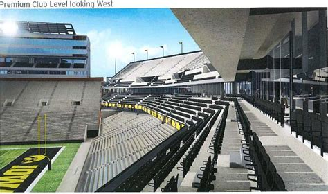 carver hawkeye arena premium seating kinnick stadium end zone renovation plans revealed