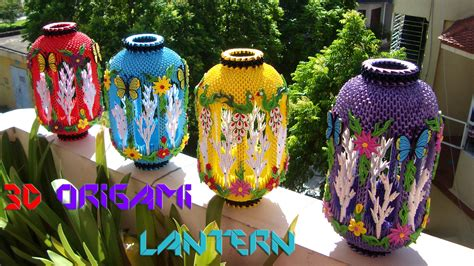 How To Make Origami Lanterns - 3d origami lantern nga 3d origami