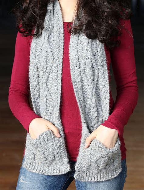 pocket scarf knitting pattern pocket wrap knitting patterns in the loop knitting