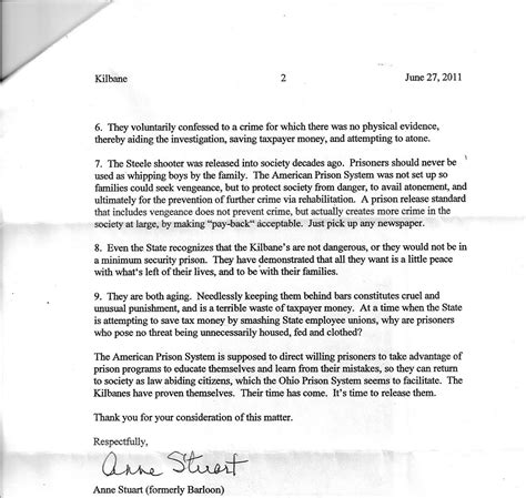 Support Letter Parole Board Sle Parole Support Letter Images