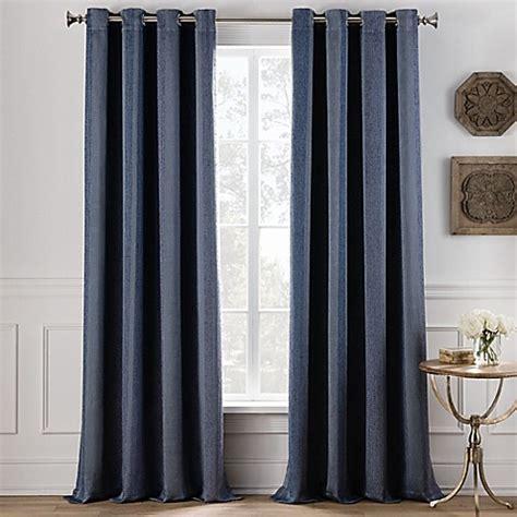 Denim Panel Top buy cole stripe 84 inch grommet top window curtain panel