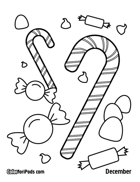 December Coloring Pages December Coloring Page