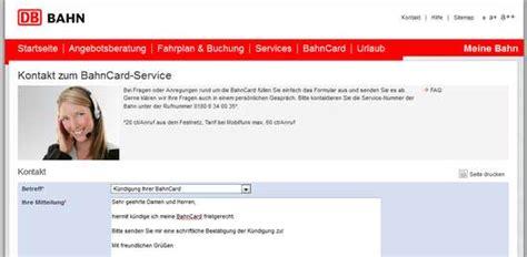 Widerspruch Musterbrief Deutsche Bahn Bahncard K 252 Ndigen