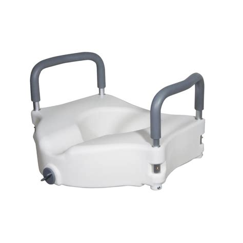 elevated toilet seat elevated raised toilet seat with removable padded arms