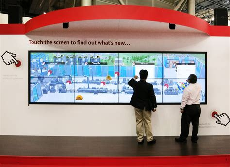 The Touch the touch wall on the go interactive videowalls