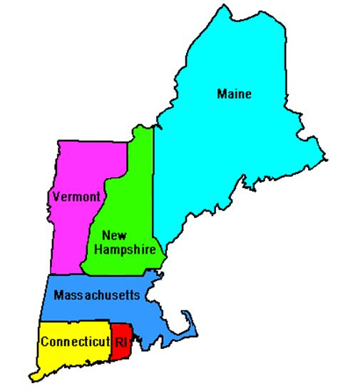 Where Is New England On The Map by New England States Scanner Radio Frequency Selector Page