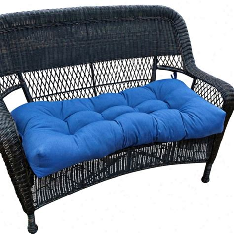 outdoor settee cushion marine blue 42 quot wide outdoor settee cushion w6256
