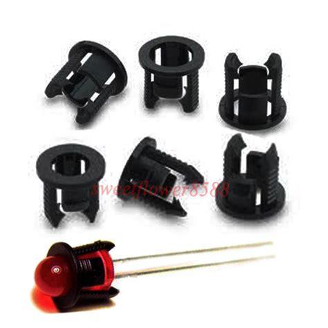 100pcs 5mm black plastic led clip holder case cup mounting