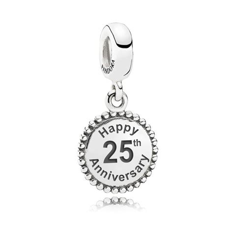 pandora pendant charm 791169 engraved with happy 25th
