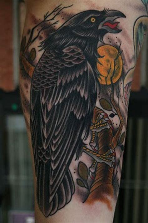 tattoo flash ravens 39 traditional raven tattoos