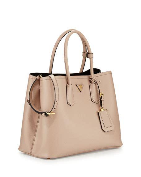 New Prada Onyx 2526 5 Prada Saffiano Cuir Bag Cammeo