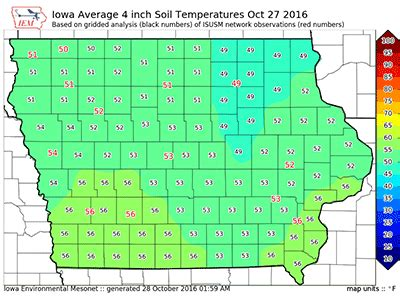 iowa state soil temperature map wait for soil temps to remain below 50 degrees to apply