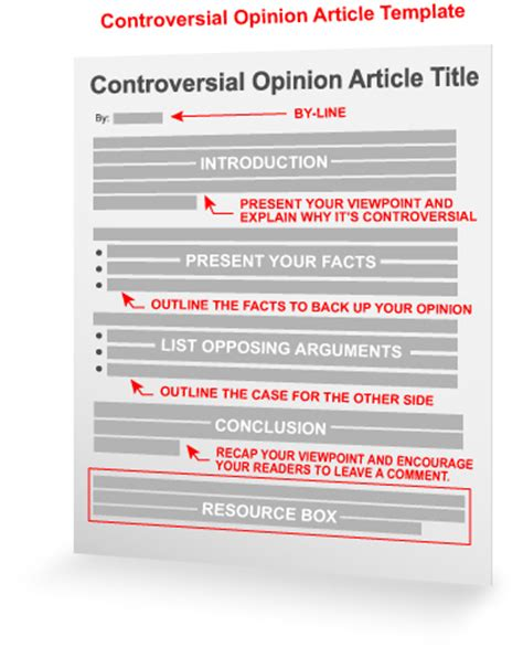 opinion template controversial opinion article template
