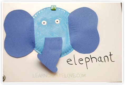 Paper Craft Elephant - simple paper plate elephant craft