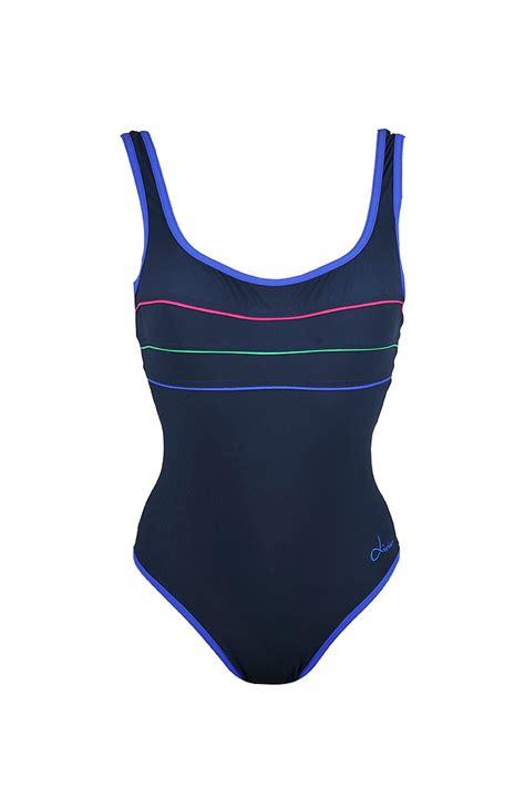 maillot de bain 48 maillot femme une pi 233 ce bleu marine sport livia 1 pi 232 ce borneo