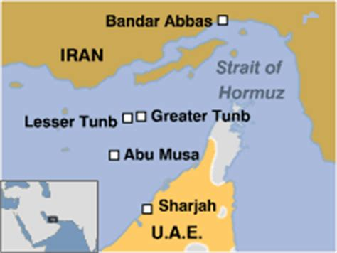 map of uae and iran news middle east iran s island offices condemned