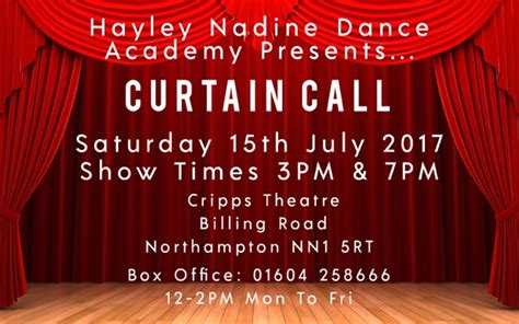 curtain call tickets hayley nadine dance academy presents curtain call at