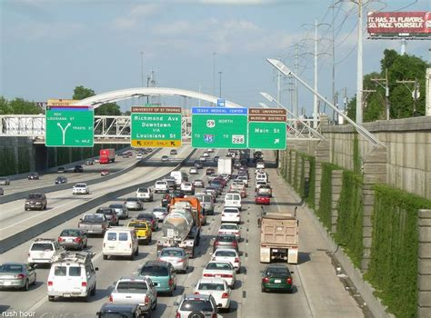 houston traffic map by hour 17 best images about freeways no thank you on