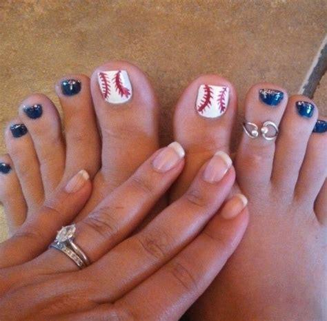 Baseball Nail Designs For Toes baseball nails nails seasons pedicures