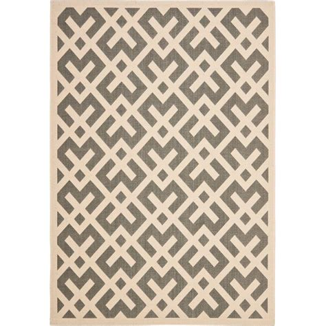 Grey Outdoor Rug Safavieh Courtyard Gray Bone 9 Ft X 12 Ft Indoor Outdoor Area Rug Cy6915 236 9 The Home Depot