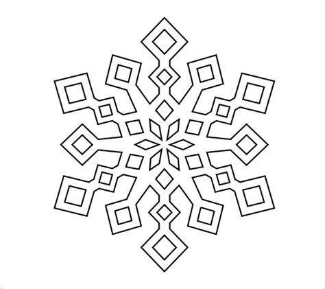 printable snowflake template pdf search results for printable snowflake template