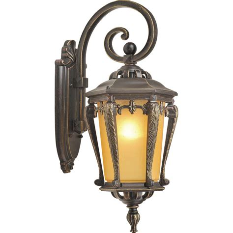 Lantern Wall Sconce Indoor by Volume Lighting 1 Light Golden Rust Indoor Outdoor