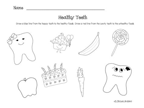 12 best images of tooth worksheets for grade