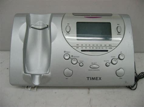 timex t488s radio alarm clock corded telephone ebay