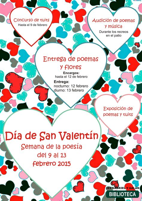 poemas para el dia de san valentin encuentos actividades de san valent 237 n 2015 semana de la poes 237 a