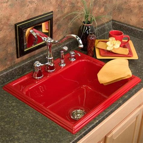 red kitchen sink advantage 3 2 shannock red single bowl kitchen sink
