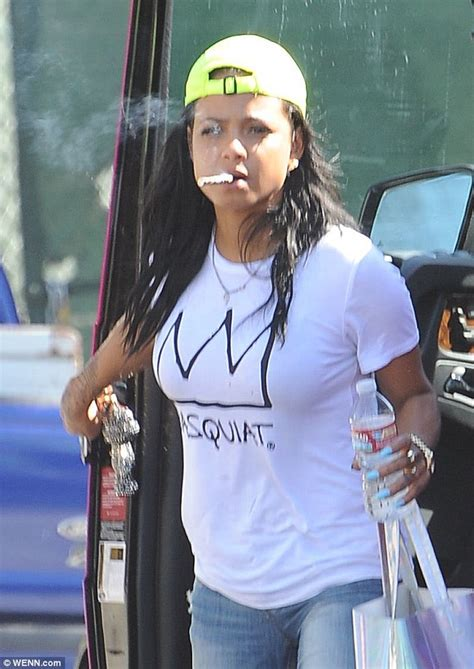 christina milian puffs away on an e hookah with john